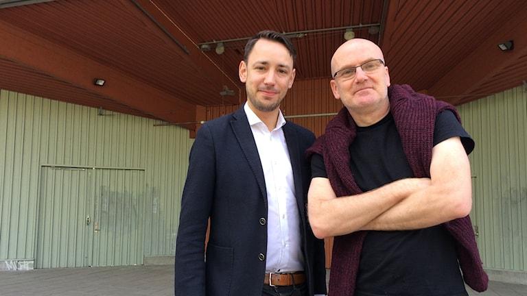 Programproducenterna Kent Wennman och Fredrik Anell-Berger, Parksnäckan.