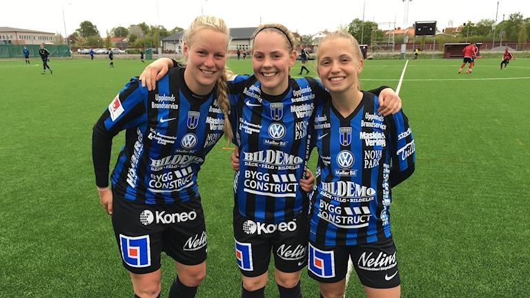 Moa Mattsson, Agnes Nyberg och Malin Forssner