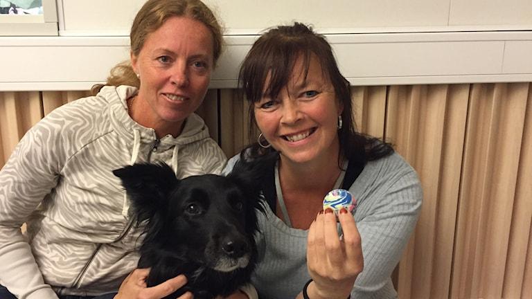 Hund Nellie som räddades med en Heimlich-manöver