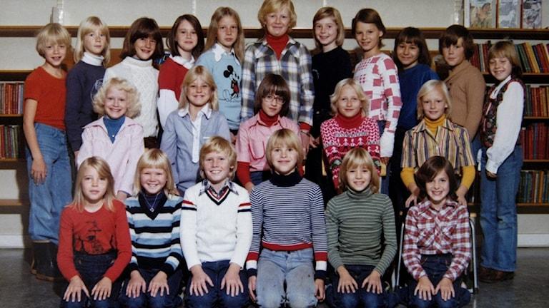 Skolfoto från 1977.