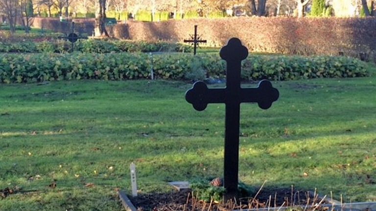 Gravar på Gamla kyrkogården i Uppsala.