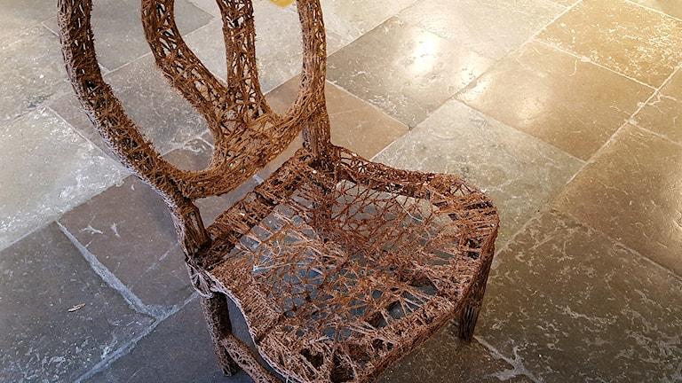3D stol (Stol tillverkad i en 3D printer) Foto: Thomas Artäng/Sveriges radio