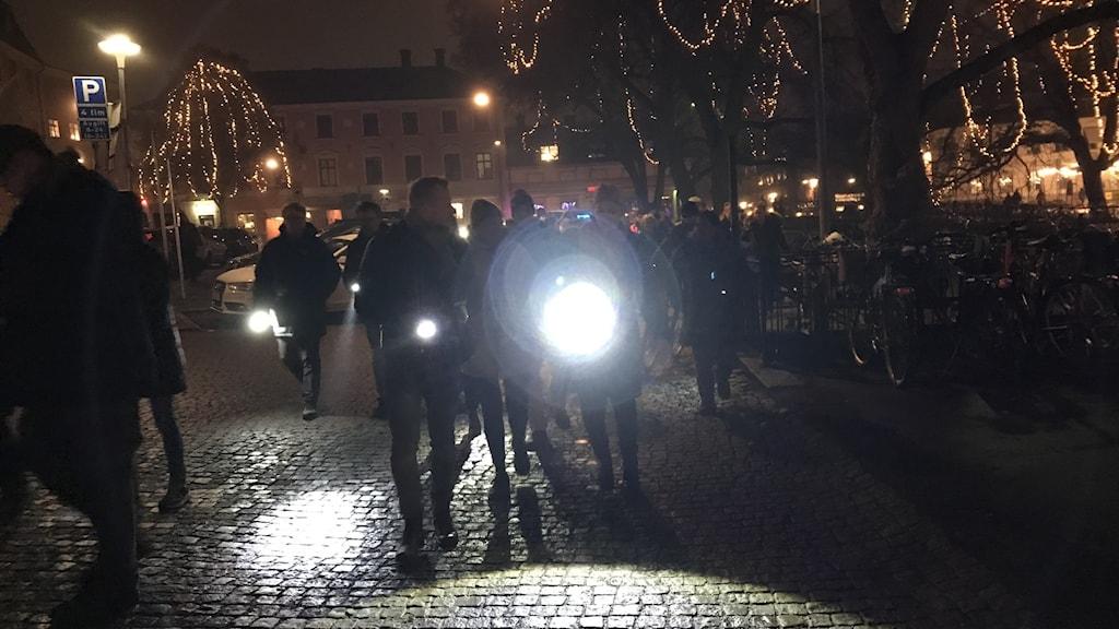 Ficklampsmanifestation i Uppsala