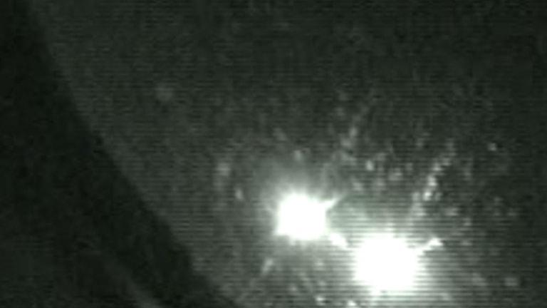 ljusfenomenet sågs på onsdagen över flera delar av Sverige
