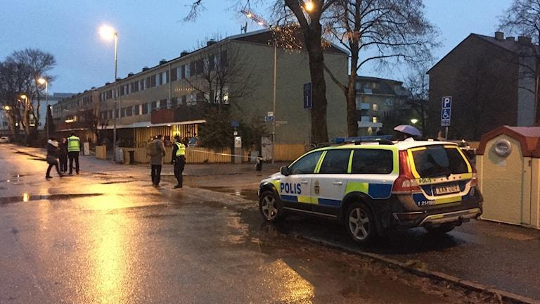 Explosion vid polishuset i Uppsala