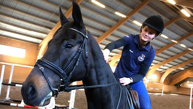 Malin Josefsson och hästen Allan