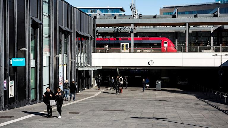 Resecentrum i centrala Uppsala.