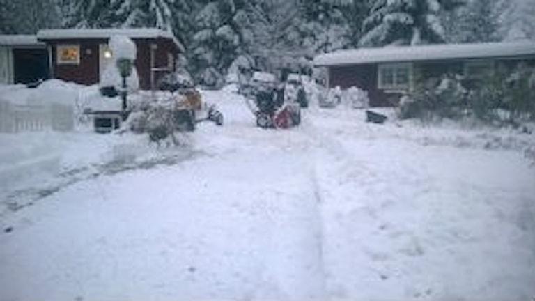 Utanför Janne Björks hem i Norrtälje