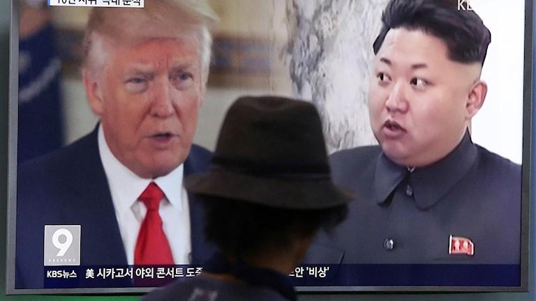 Donald Trump, USA:s president och Kim Jong Un, Nordkoreas ledare.