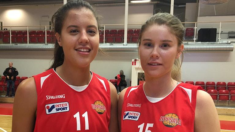 Johanna Ezra och Louise Skyttevall, Uppsala Basket