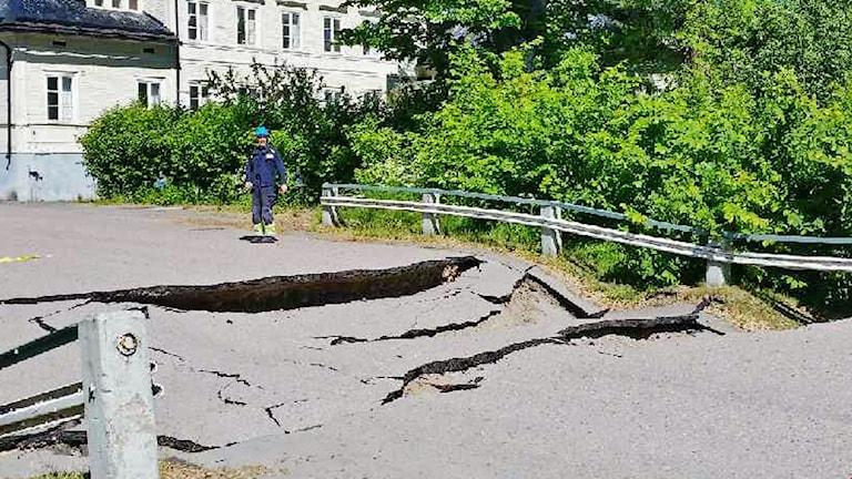 Bro rasade i Söderfors
