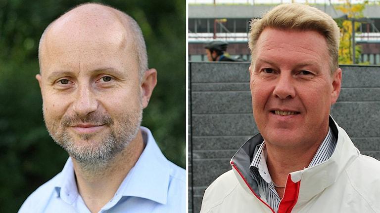Stefan Olsson (M) och Bertil Kinnunen (S)