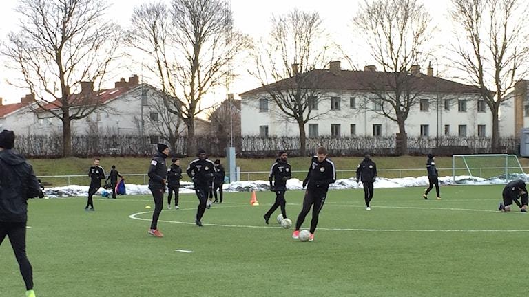 Dalkurds första träning i Uppsala.