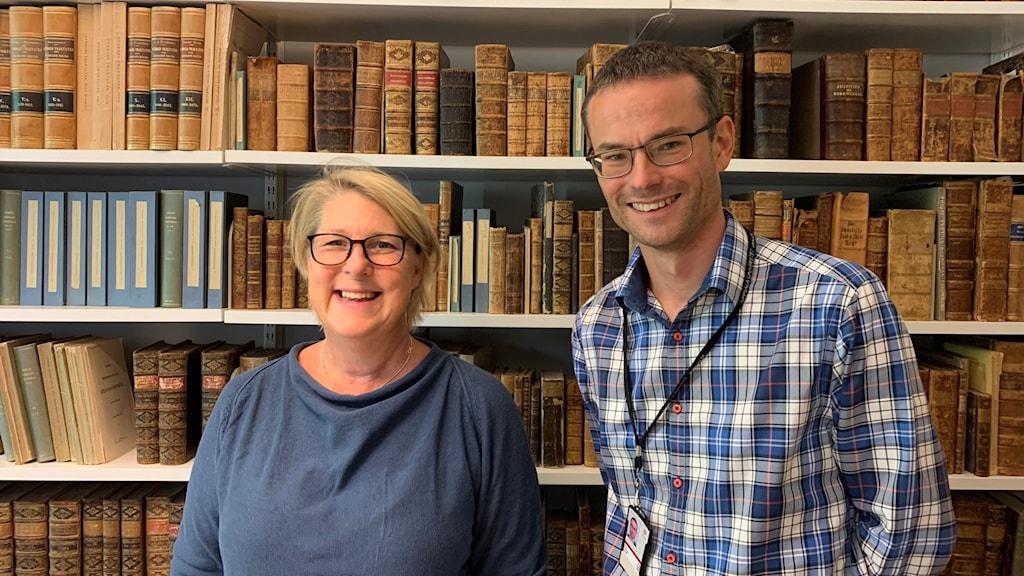 Årets vinnare av Disapriset, Karin Hassan Jansson och Jonas Lindström, historieforskare på Uppsala Universitet.