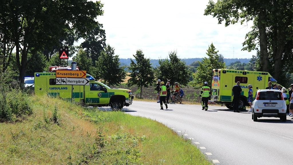 Olyckan inträffade på väg 255 i höjd med Krusenberg Herrgård.