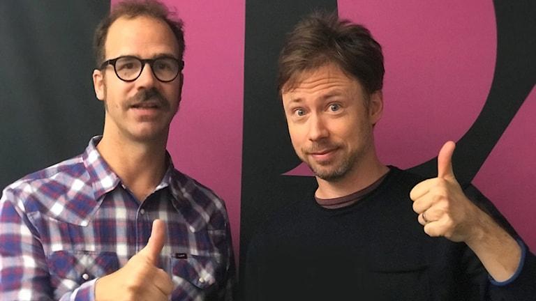 Gussy Löwenhielm och Tobias Persson gav P4 Upplands morgonprogram varsin like-tumme.