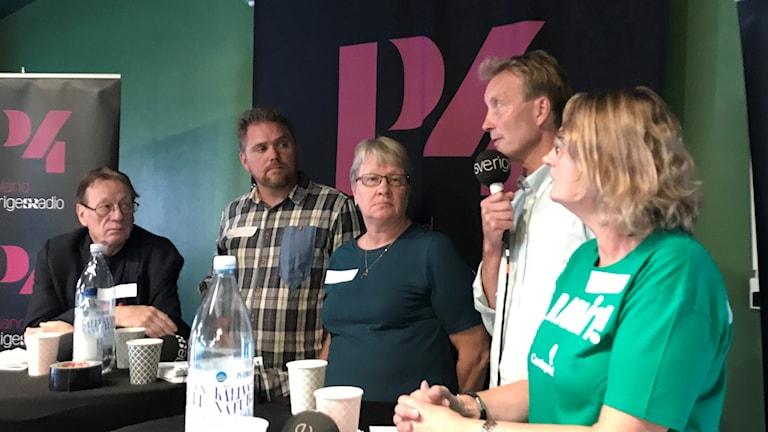 Tomas Bergström, Liberalerna, talar i debatten i Heby.