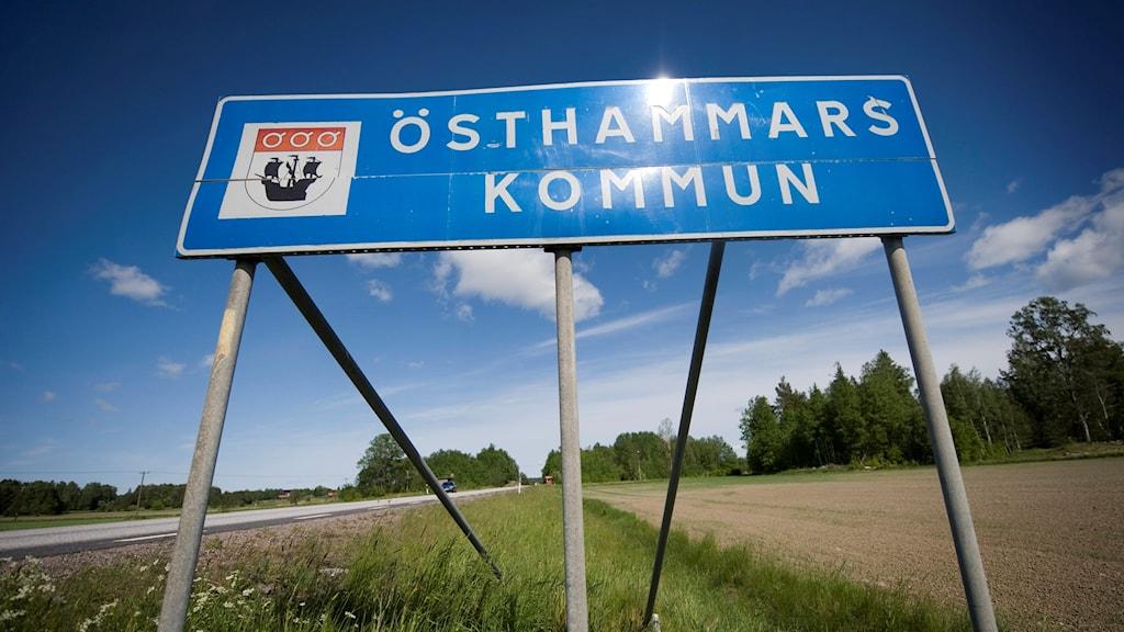 Vägskylt Östhammars kommun