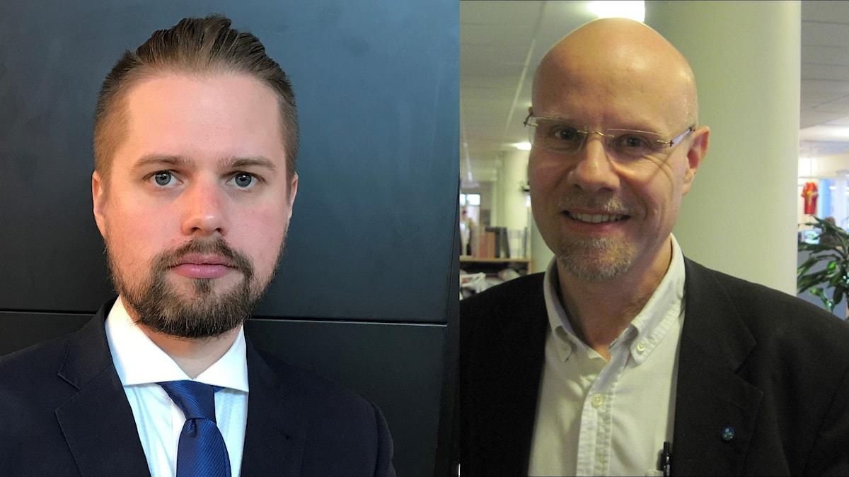 Simon Alm (SD) och Jonas Segersam (KD)