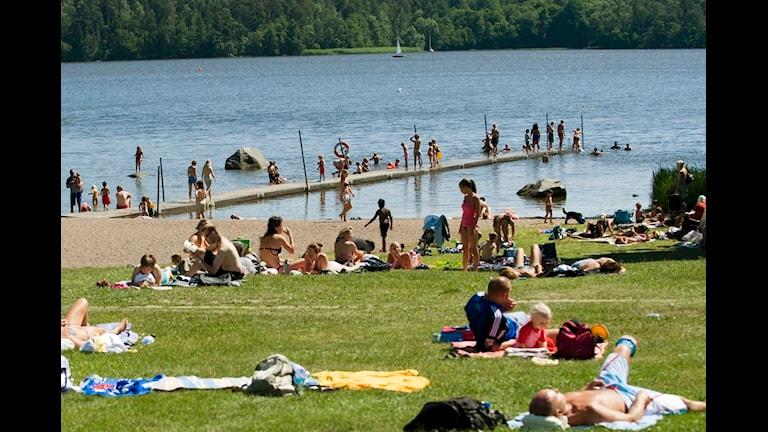 Badplatsen Vreta Udd. Foto: Scanpix