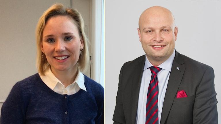 Liberalernas kommunalråd Mohammad Hassan och Caroline Hoffstedt (S), ordförande i utbildningsnämnden.