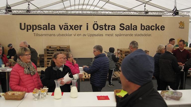 Byggmässa i Uppsala med fokus på Östra Sala backe.