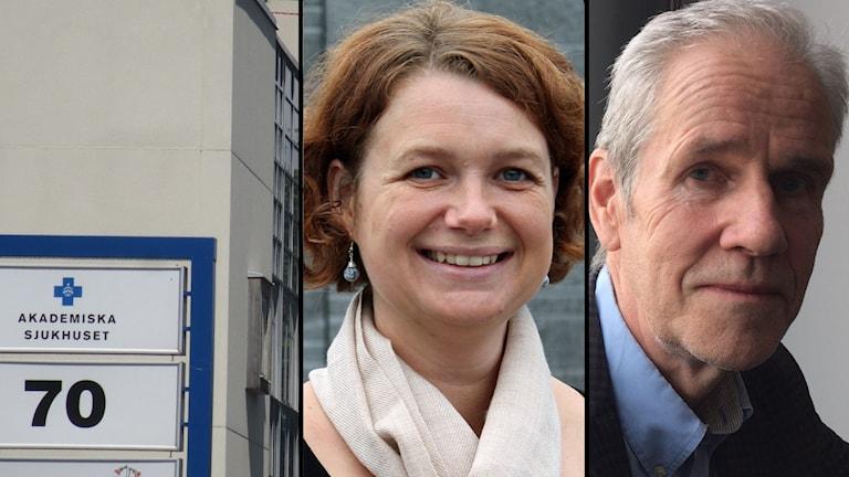 Akademiska sjukhuset, Anna-Karin Klomp (KD) och Börje Wennberg (S).
