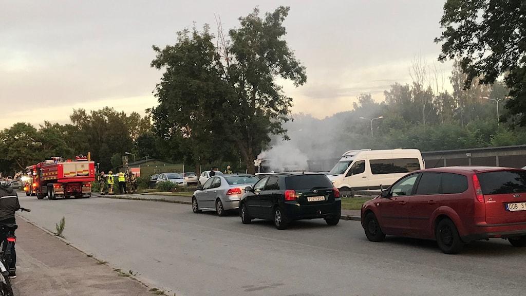 Brand i Löten i Uppsala.