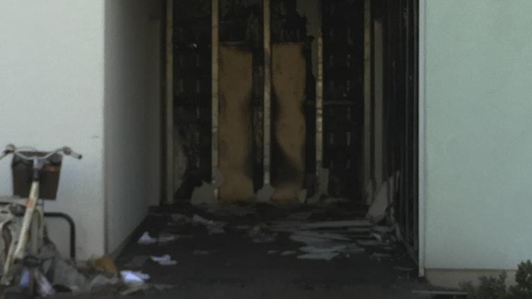 Lägenhetsbrand i Stenhagen i Uppsala.
