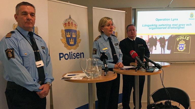 Presskonferensen hölls i polishuset i Uppsala.