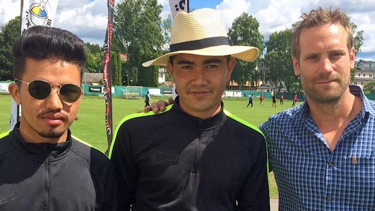 Bashir Atai, Habib Mehrabi och Markus Nilsson.