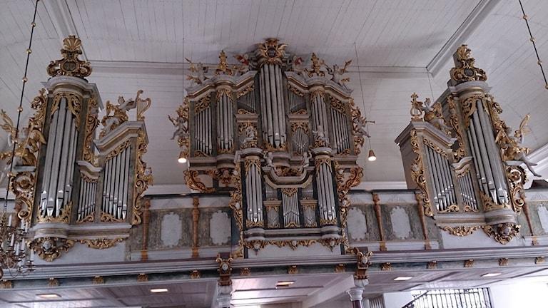 Cahmanorgeln i Lövstabruks kyrka. Foto: Ulla de Verdier/Sveriges Radio
