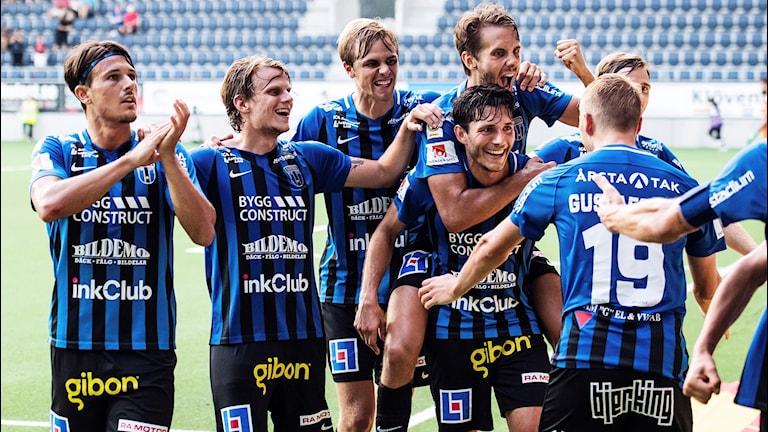 Sirius-jubel efter mål i Allsvenskan 2018.
