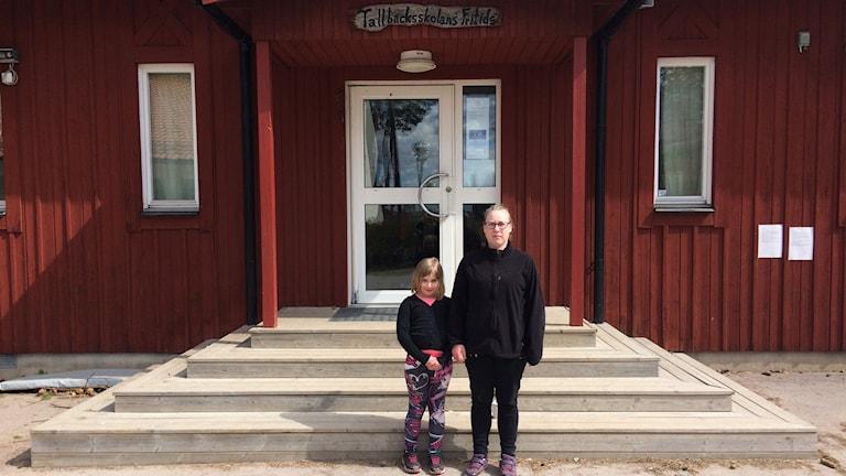 Tova Karlsson, elev och Sandra Karlsson, förälder
