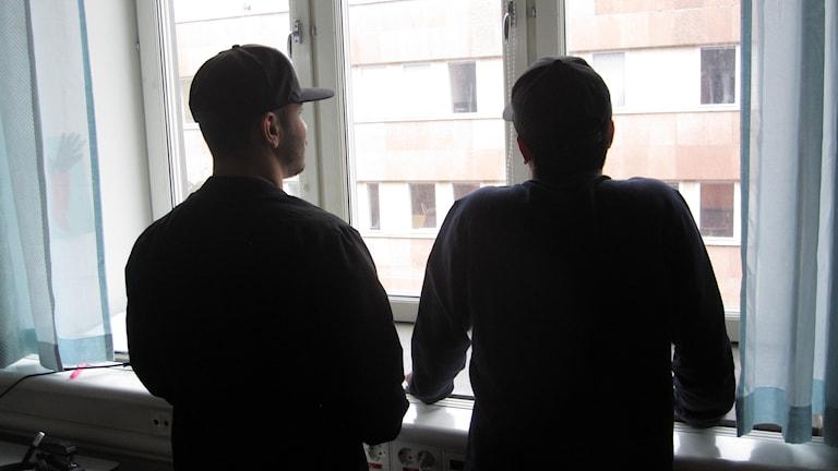 Fahim och Zaher från Afghanistan.