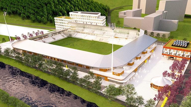 Så här ska nya Studenternas fotbollsarena i Uppsala se ut.