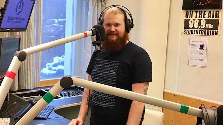 Studentradions stationschef Oscar Tranberg.