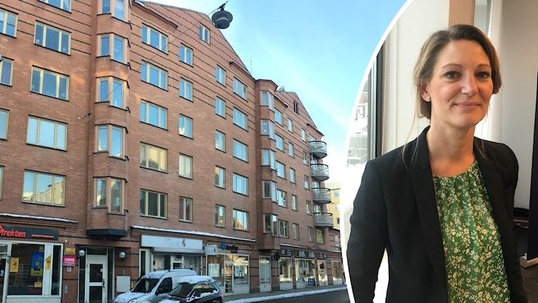 Gruppboendet vid Dragarbrunnsgatan och avdelningschef Liselotte Engqvist.