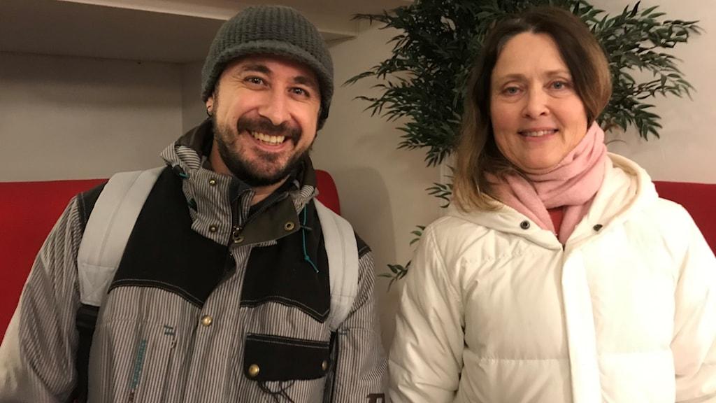 tv Aram Verduzco, SFI-elev, th Katarina Reineck, SFI-lärare