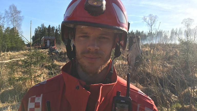 Räddningsledare Fredrik Nilsson