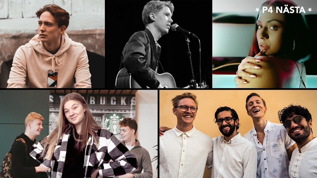 Ett collage med bilder på finalisterna.
