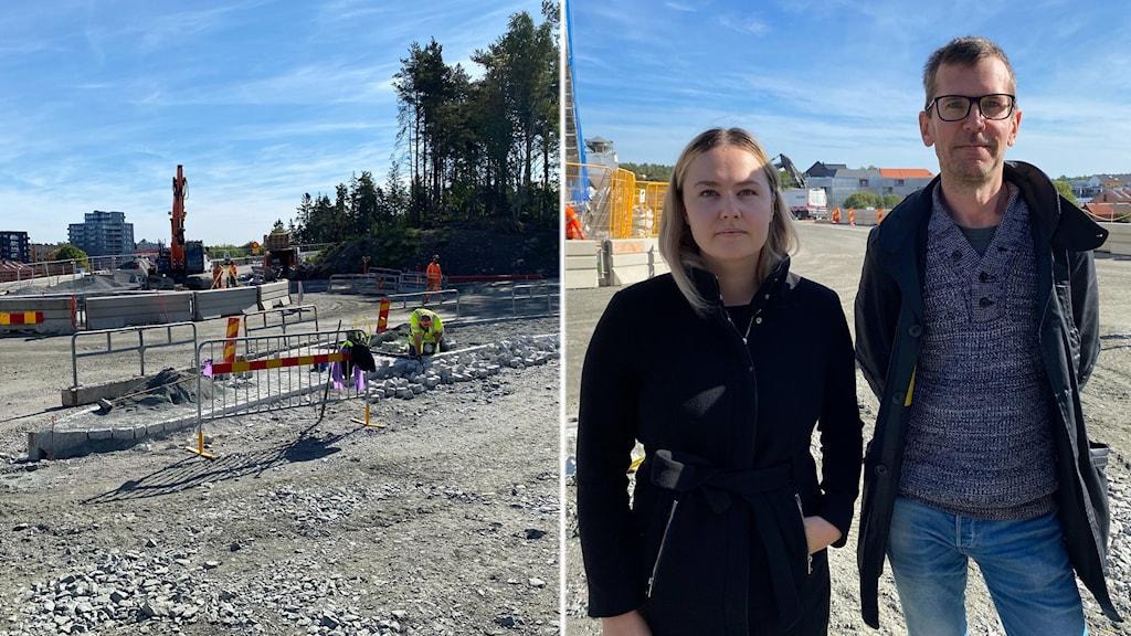 Ett byggprojekt som skapar stor irritation i trafiken i Knivsta.