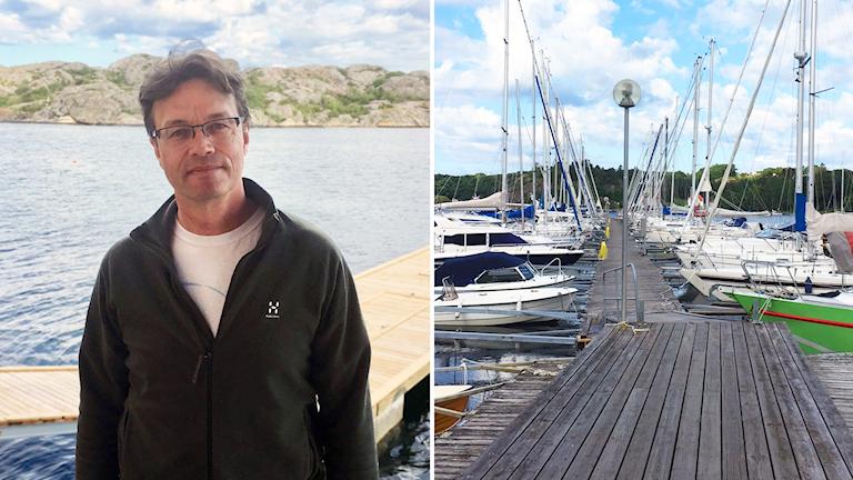 Per-Olav Moksnes vid brygga