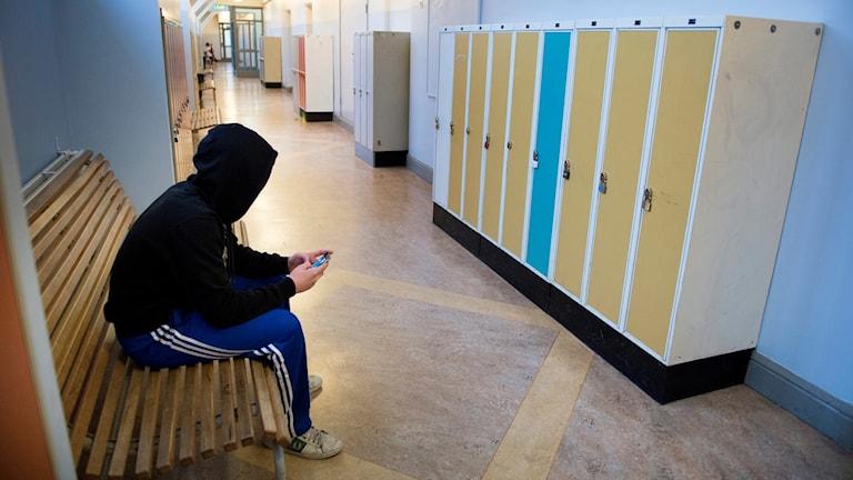 korridor skola ensam