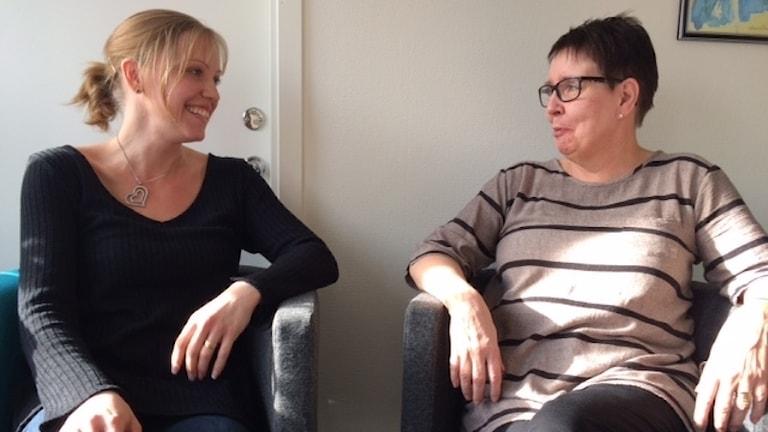 Jennie Hamberg Larsson och Eva Limmergård jobbar vid Tierps kommun.