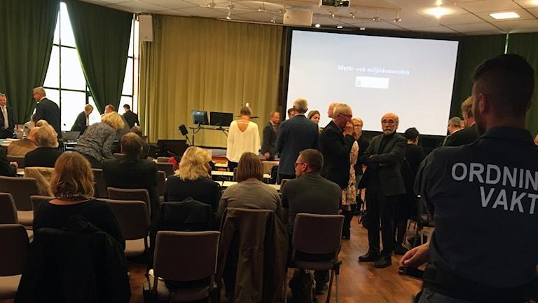 Förhandlingar vid mark- och domstolsnämnden kring slutförvar Östhammar.