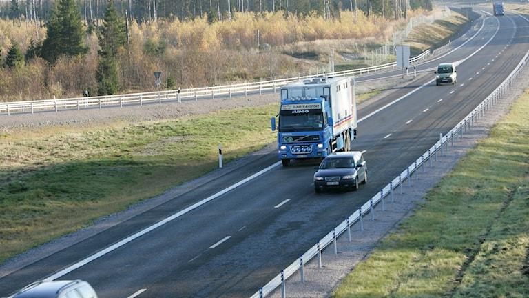 E4 mellan Uppsala och Gävle.