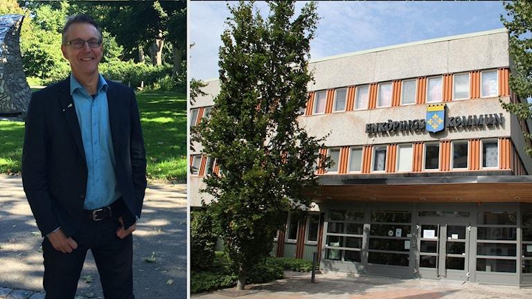 Anders Wikman från Nystart Enköping och Enköpings kommunhus.