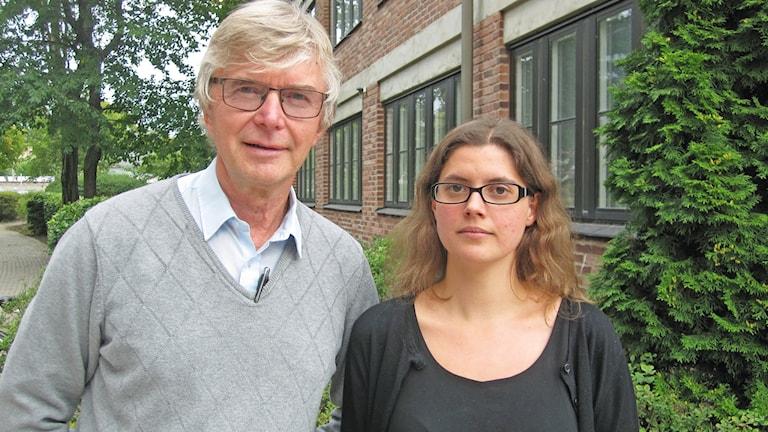 Hans-Eric Lindahl och Helena Dübeck vid Lärarnas Riksförbund i Uppsala.