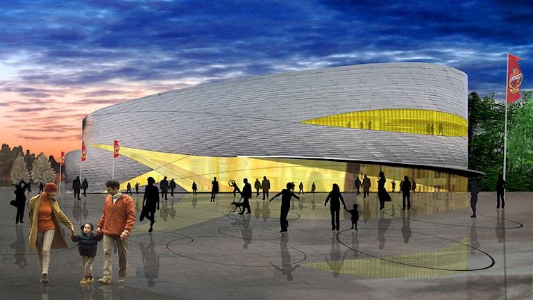 Förslag entré Uppsala arena. Foto: Aros arkitekter
